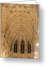St. Patrick's Cathedral - Detail Of Main Altar's Ceiling Greeting Card