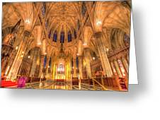 St Patrick's Cathedral Manhattan New York Greeting Card