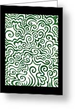 St Patrick's Day Abstract Greeting Card