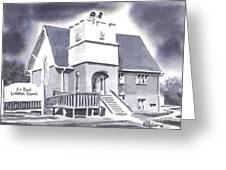 St Paul Lutheran With Ink Greeting Card