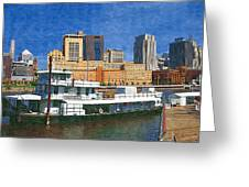 St Paul On The Mississippi Greeting Card