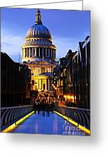 St. Paul's Cathedral From Millennium Bridge Greeting Card
