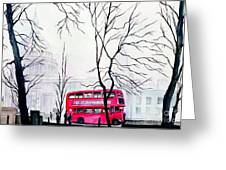 St Pauls Cathedral In The Mist  Greeting Card
