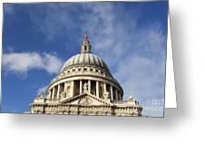 St Pauls Cathedral London England Uk Greeting Card