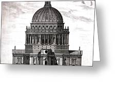 St. Pauls Drawn By Christopher Wren Greeting Card
