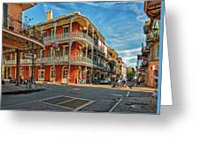 St Peter St New Orleans Greeting Card