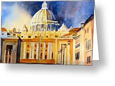 St. Peters Basilica Greeting Card