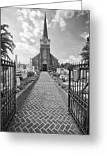 Church And Gravemarkers Greeting Card
