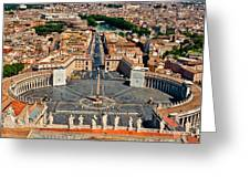 St Peter's Square Greeting Card