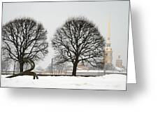 St. Petersburg - Winter Greeting Card