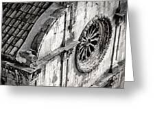 St. Saviour Church Window - Black And White Greeting Card
