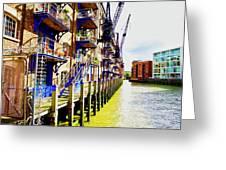 St Saviours Wharf Greeting Card