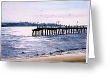 St. Simons Island Fishing Pier Greeting Card