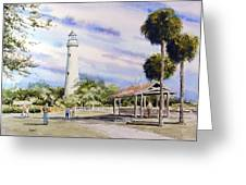 St. Simons Island Lighthouse Greeting Card