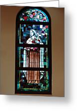 St. Theresa Stained Glass Window Greeting Card
