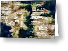 St Thomas - Brick Wall Shadow Greeting Card