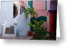 St. Thomas Courtyard Greeting Card
