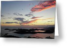 St. Thomas Sunset Greeting Card