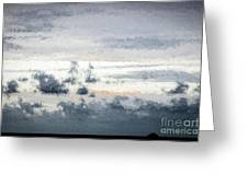 St Thomas - Sunset Over A Small Island Greeting Card