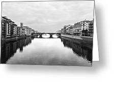 St. Trinity Bridge, Florence Greeting Card