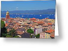 St-tropez Skyline Greeting Card by Corinne Rhode