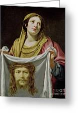 St. Veronica Holding The Holy Shroud Greeting Card