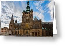 St  Vitus Cathedral In Prague Greeting Card