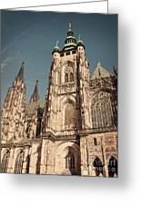 St Vitus Cathedral Prague Greeting Card