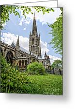 St Wulfram's Grantham Greeting Card
