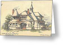 Stable For Mr. M. S. Hershey Lancaster Pennsylvania 1891 Greeting Card