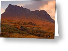 Stac Pollaidh At Sunset Greeting Card