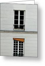Stacked French Windows Greeting Card