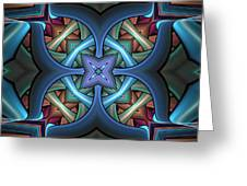 Stacked Kaleidoscope Greeting Card