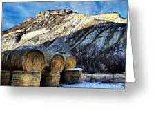 Stacked Mountains  Greeting Card