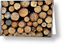 Stacked Timber Two Greeting Card