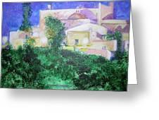 Staeulalia Church - Lit Up At Night Greeting Card
