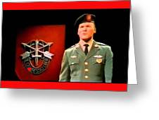 Staff Sergeant Barry Sadler Singing On National Tv - Ed Sullivan Show 1966-2016 Greeting Card