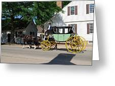 Stage Coach Greeting Card