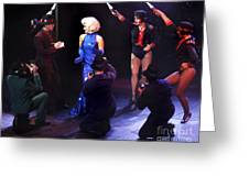 Stage Show Paparazzi Greeting Card