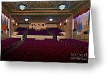 Stage View Greeting Card