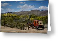 Stagecoach Greeting Card