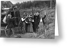 Stagecoach Robbery, 1911 Greeting Card