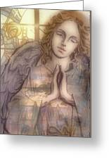 Stain Glass Angel Greeting Card