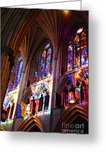 Stain Glass Cathedral Greeting Card