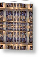 Stained Glass And Brass Greeting Card by Ricky Kendall
