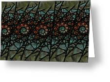 Stained Glass Floral I Greeting Card