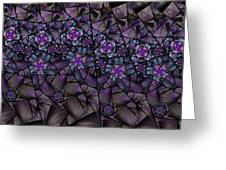 Stained Glass Floral II Greeting Card
