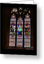 Stained Glass Glory Of St Patricks Greeting Card
