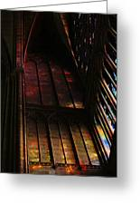 Stained Glass Impression Notre Dame Paris Greeting Card
