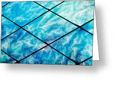 Stained Glass In Blues Greeting Card